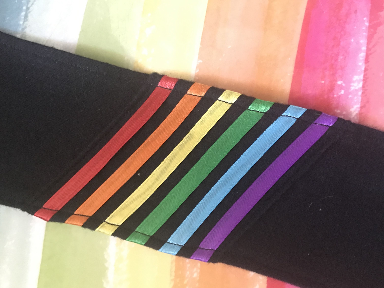 3-inch Ranbow/ black armband