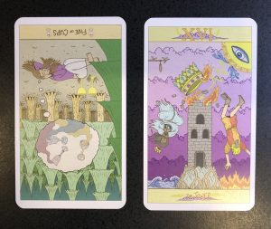 Reversed 5 of Cups and The Tower